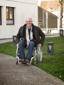 Parcours en fauteuil roulant